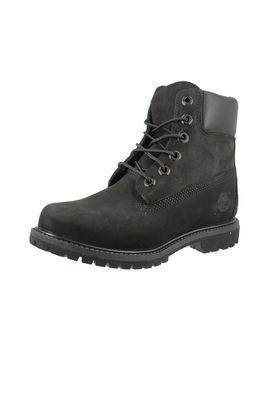 Timberland Damen Stiefel 6 Inch Premium Boot Leder Black Waterbuck Schwarz 8658A – Bild 1