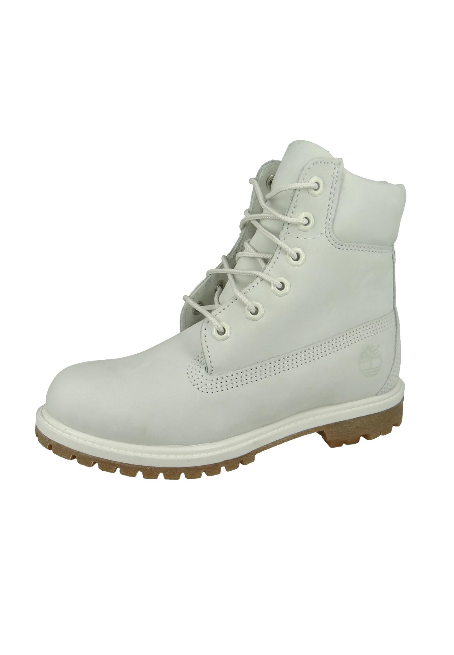 7585768545 Timberland Damen Stiefel 6 Inch Premium Boot Leder Vaporous Grey Waterbuck  Grau A196R