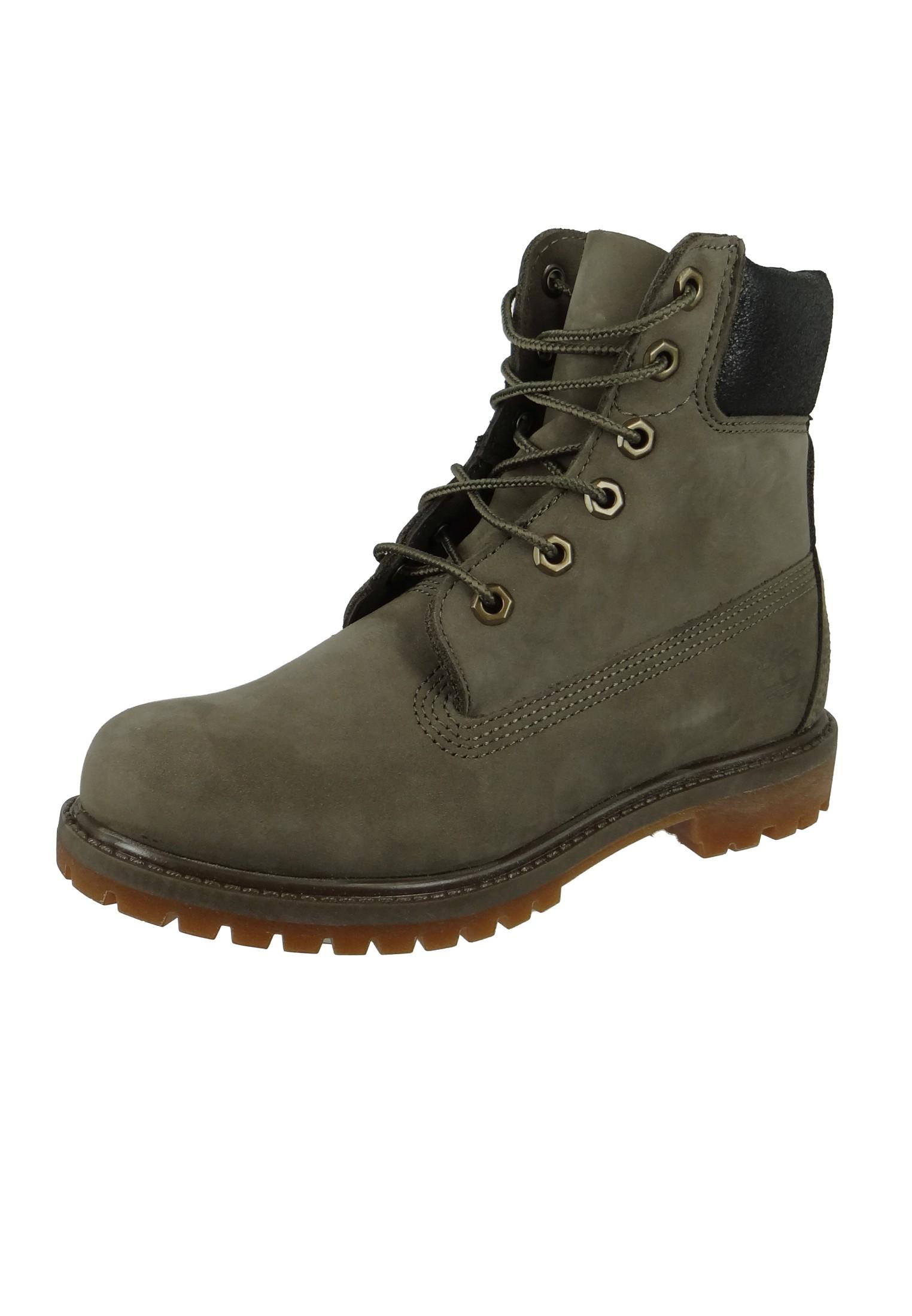 best sneakers 6620b 06229 Timberland Damen Stiefel 6 Inch Premium Boot Leder Canteen Waterbuck Braun  A1HZM