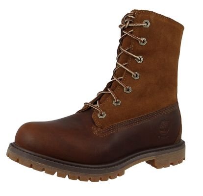 Timberland Womens Winter Boots Authentics Teddy Fleece Tobacco Forty Dark Brown Brown 8328R – Bild 1