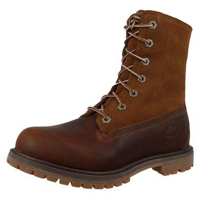 Timberland 8328R Authentic Teddy Fleece Waterproof Fold-Down Damen Winterstiefel Dark Brown Full-Grain Braun – Bild 1