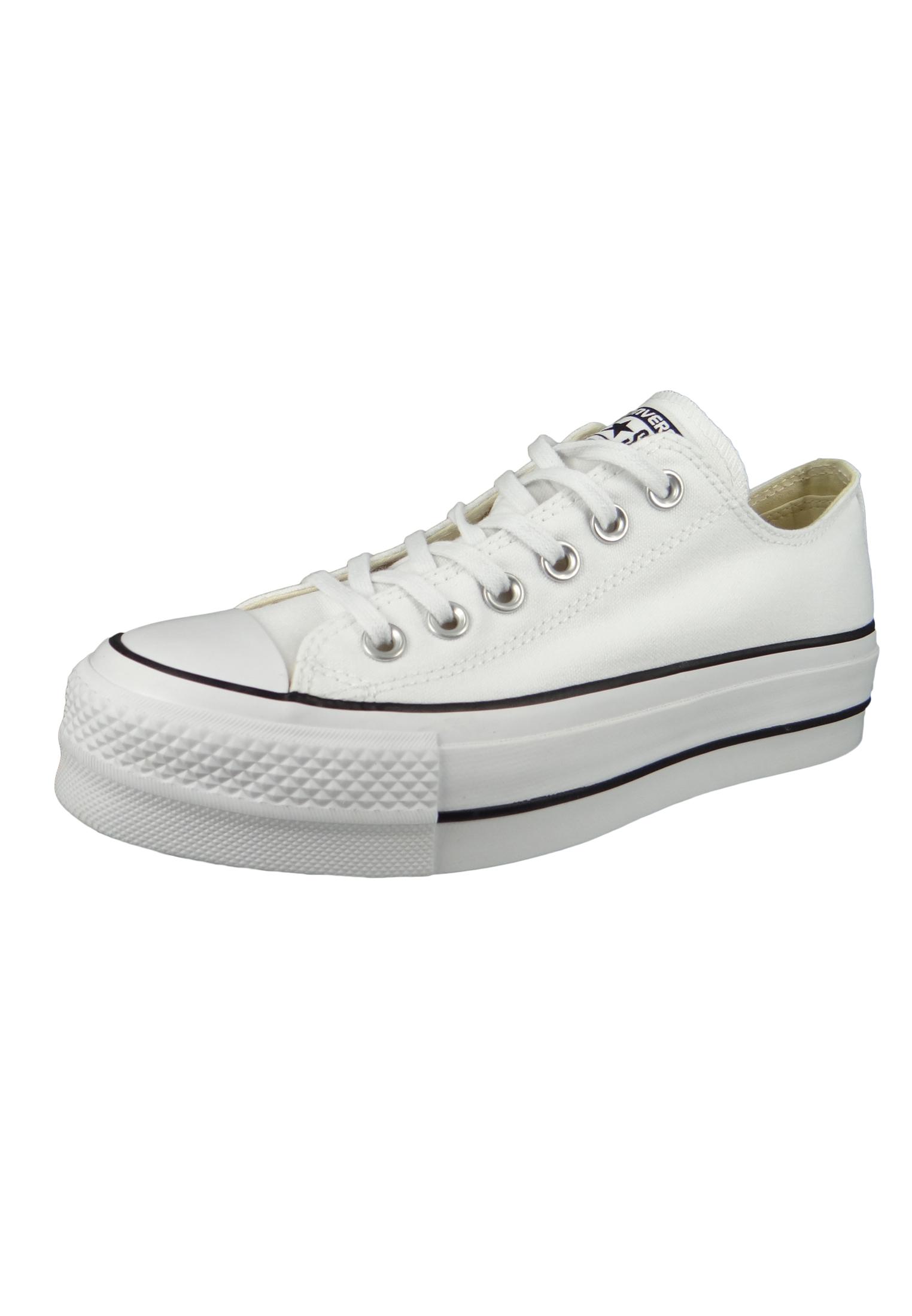 Converse Chucks Weiss 560251C Chuck Taylor All Star LIFT OX White Garnet Navy