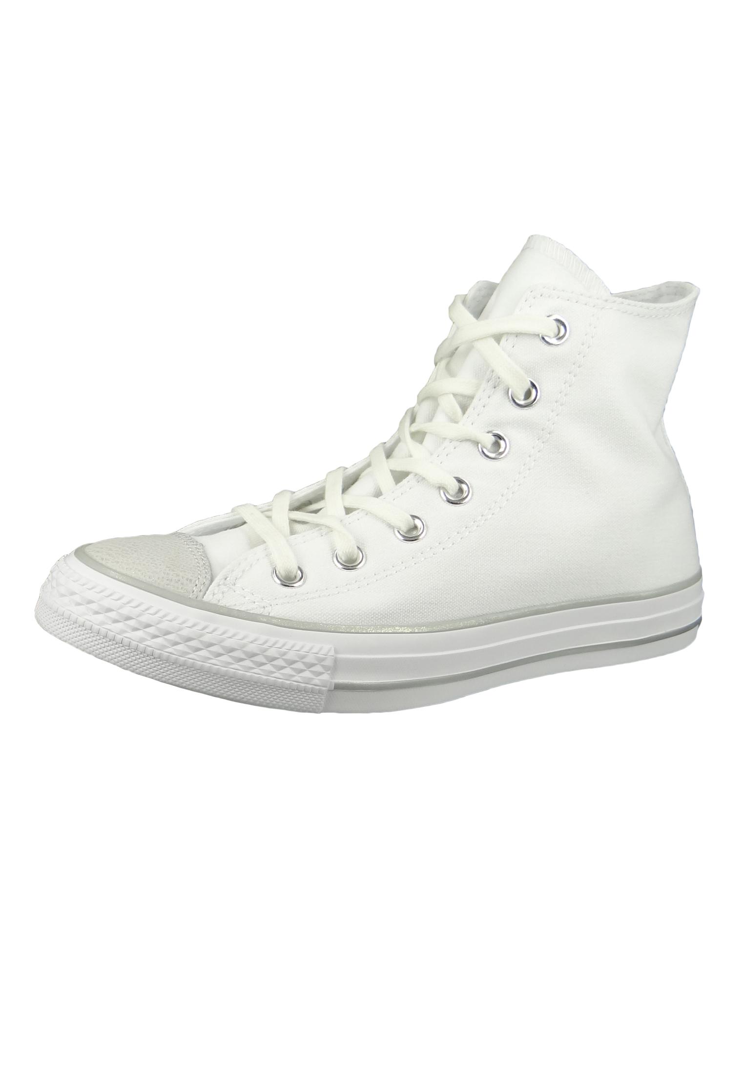 Converse Chucks Weiss 559886C Chuck Taylor All Star HI HI HI Weiß Silver ... 122289