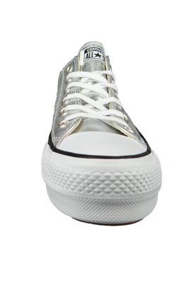 Converse Chucks Silver 560248C Chuck Taylor All Star Lift - OX Silver Black White – Bild 4