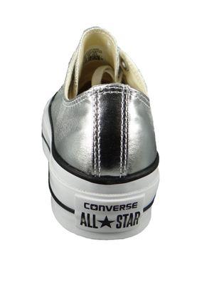 Converse Chucks Silver 560248C Chuck Taylor All Star Lift - OX Silver Black White – Bild 6
