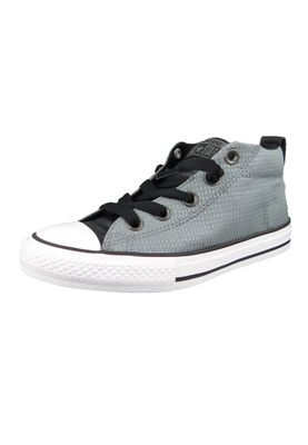 Converse Chucks Kinder 660041C Chuck Taylor All Star Street MID Cool Grey Black White – Bild 1