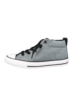 Converse Chucks Kinder 660041C Chuck Taylor All Star Street MID Cool Grey Black White – Bild 2
