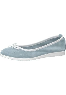Tamaris 1-22102-20 977 Damen Sky/White Blau/Weiß Ballerina – Bild 1