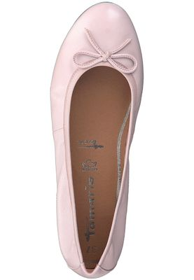 Tamaris 1-22116-20 531 Damen Rose Leather Rosa Leder Ballerina mit TOUCH-IT Sohle – Bild 5