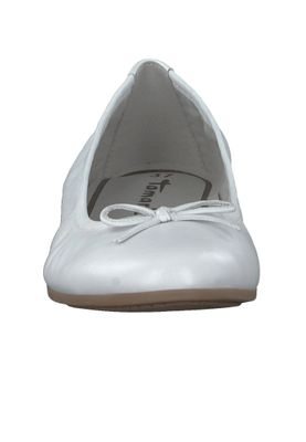 Tamaris 1-22116-20 117 Damen White Leather Weiß Leder Ballerina mit TOUCH-IT Sohle – Bild 6