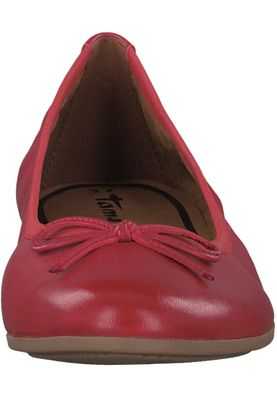 Tamaris 1-22116-20 565 Damen Chili Leather Rot Leder Ballerina mit TOUCH-IT Sohle – Bild 6