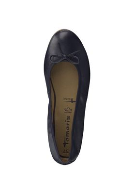 Tamaris 1-22116-20 898 Damen Navy Leather Blau Leder Ballerina mit TOUCH-IT Sohle – Bild 6