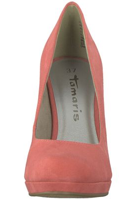 Tamaris 1-22407-20 563 Damen Coral Rot Plateau Pumps High-Heel – Bild 6