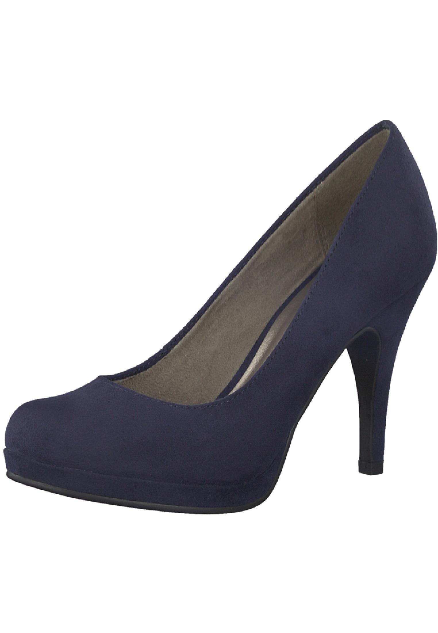 tamaris 1 22407 20 805 damen navy blau plateau pumps high heel damenschuhe pumps plateau pumps. Black Bedroom Furniture Sets. Home Design Ideas