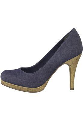 Tamaris 1-22407-20 807 Damen Navy Jeans Blau Plateau Pumps High-Heel – Bild 3