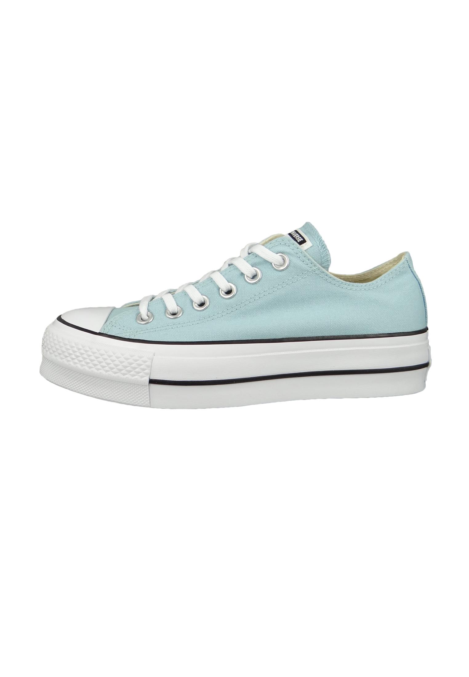 converse chucks blau 560687c chuck taylor all star lift ox ocean bliss white damenschuhe sneaker. Black Bedroom Furniture Sets. Home Design Ideas