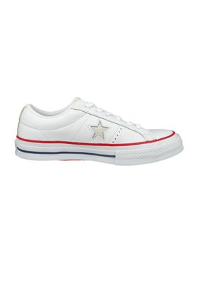 Converse Chucks 160624C Weiss One Star OX White Gym Red – Bild 3