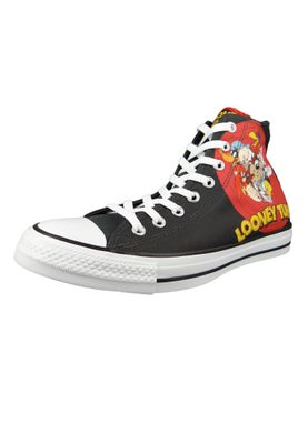 Converse Chucks Schwarz 160901C Chuck Taylor All Star HI LOONEY TUNES - Black White Red – Bild 1