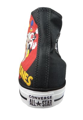 Converse Chucks Schwarz 160901C Chuck Taylor All Star HI LOONEY TUNES - Black White Red – Bild 4