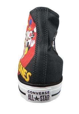 Converse Chucks Schwarz 160901C Chuck Taylor All Star HI LOONEY TUNES - Black White Red – Bild 4