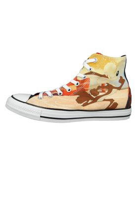 Converse Chucks Schwarz 161188C Chuck Taylor All Star HI LOONEY TUNES - Black Red White – Bild 2