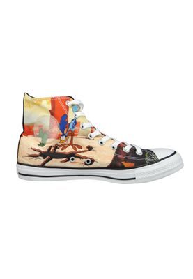 Converse Chucks Schwarz 161188C Chuck Taylor All Star HI LOONEY TUNES - Black Red White – Bild 4