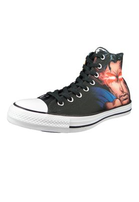 Converse Chucks Schwarz 161389C Chuck Taylor All Star HI SUPERMAN - EDITION - Black – Bild 1