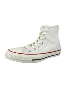 Converse Chucks 160514C Chuck Taylor All Star HI White Garnet Athletic Navy – Bild 1