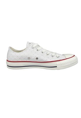 Converse Chucks 160515C Chuck Taylor All Star OX Weiss White Garnet Athletic Navy – Bild 4
