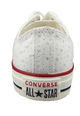 Converse Chucks 160515C Chuck Taylor All Star OX Weiss White Garnet Athletic Navy – Bild 3