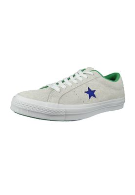 Converse Chucks 160592C One Star OX Leder Weiss White Court Purple Tennis Wimpledon – Bild 1