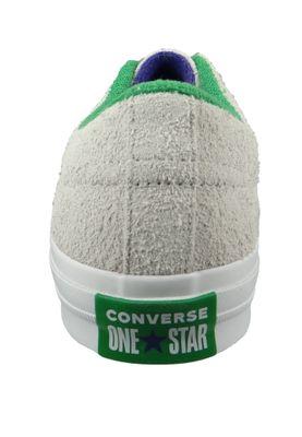 Converse Chucks 160592C One Star OX Leder Weiss White Court Purple Tennis Wimpledon – Bild 4