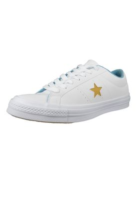 Converse Chucks 160593C One Star OX Leder Weiss White Mineral Yellow French Open – Bild 1