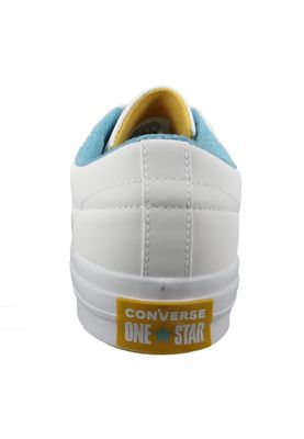 Converse Chucks 160593C One Star OX Leder Weiss White Mineral Yellow French Open – Bild 4