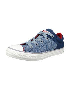 Converse Chucks Kinder 660721C Chuck Taylor All Star High Street Slip Blau Navy Glacier Grey – Bild 1