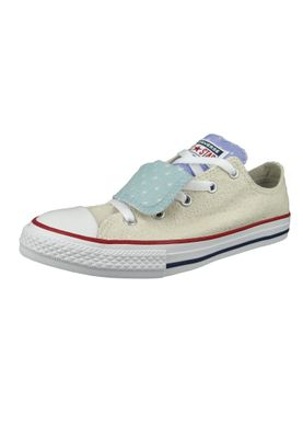 Converse Chucks Kinder 660713C Chuck Taylor All Star Double Tongue - OX Beige Driftwood – Bild 1