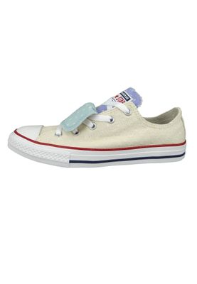 Converse Chucks Kinder 660713C Chuck Taylor All Star Double Tongue - OX Beige Driftwood – Bild 2