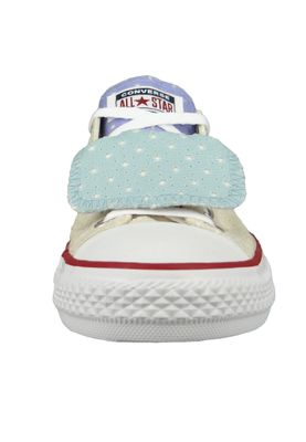 Converse Chucks Kinder 660713C Chuck Taylor All Star Double Tongue - OX Beige Driftwood – Bild 5