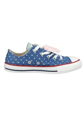 Converse Chucks Kinder 660714C Chuck Taylor All Star Double Tongue - OX Blau Nightfall Blue Ocean Bliss – Bild 5