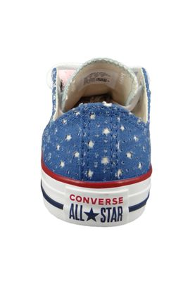 Converse Chucks Kinder 660714C Chuck Taylor All Star Double Tongue - OX Blau Nightfall Blue Ocean Bliss – Bild 4