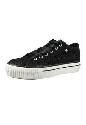 British Knights BK Sneaker B41-3782-11 Women's Platform Platform Black Black Lace – Bild 1