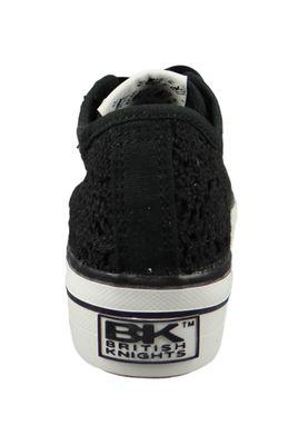 British Knights BK Sneaker B41-3782-11 Damen Master-Platform Plateau Schwarz Black Lace – Bild 4