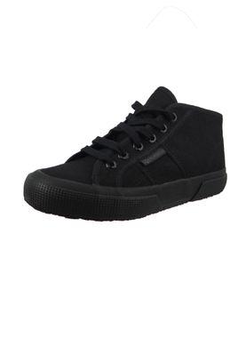 Superga Schuhe Sneaker 2754 COTU MID CUT Total Black Schwarz – Bild 2