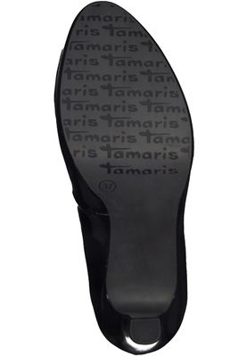 Tamaris 1-22426-20 018 Damen Black Patent Schwarz Plateau Pumps High-Heel mit TOUCH-IT Sohle – Bild 4