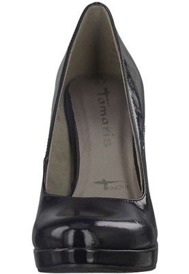 Tamaris 1-22426-20 018 Damen Black Patent Schwarz Plateau Pumps High-Heel mit TOUCH-IT Sohle – Bild 6
