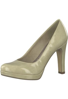 Tamaris 1-22426-20 428 Damen Dune Patent Beige Plateau Pumps High-Heel mit TOUCH-IT Sohle – Bild 1