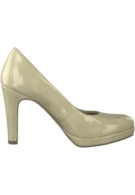 Tamaris 1-22426-20 428 Damen Dune Patent Beige Plateau Pumps High-Heel mit TOUCH-IT Sohle – Bild 2