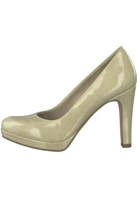 Tamaris 1-22426-20 428 Damen Dune Patent Beige Plateau Pumps High-Heel mit TOUCH-IT Sohle – Bild 3