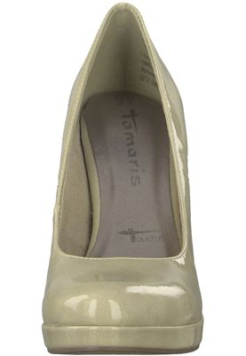 Tamaris 1-22426-20 428 Damen Dune Patent Beige Plateau Pumps High-Heel mit TOUCH-IT Sohle – Bild 6