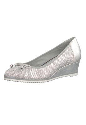Tamaris 1-22303-20 226 Damen Cloud Structure Silber Glitzer Keilpumps mit TOUCH-IT Sohle – Bild 1